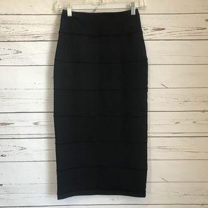 LULULEMON Black Yoga Over Pencil Tube skirt 4